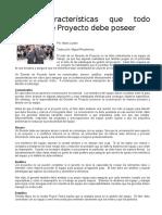 Cinco Caracteristicas Que Todo Gerente de Proyecto Debe Poseer
