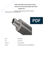 3D Numerical Study of the Effect of Eccentricity on Heat Transfer Characteristics Over Horizontal Cylinder Fitted With Annular Fins
