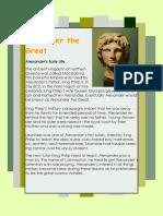 Alexander the Great Secciones Europeas