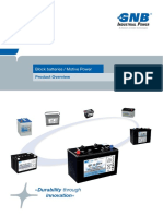 EXIDE Batteries GNB MP Block Overview En
