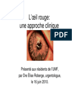 Oeil Rouge Approche Clinique 2010 1