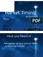 Financial Astrology Timing by Planets & Moon Cycles - Mercury Retrograde as a Stock Astrology Trading Indicator