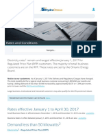 Hydro Ottawa Business Rate January 2017