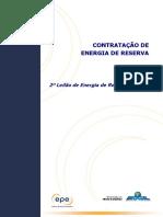 Nota Técnica Contratação de Energia de Reserva