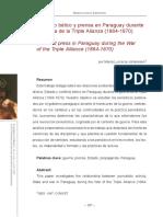 Conflicto Bélico y Prensa en Paraguay Durante