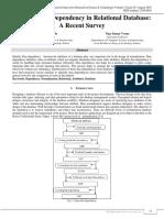 Identify Data Dependency in Relational Database