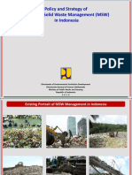 Policy and Strategy of Municipal Solid Waste Management MSW in Indonesia
