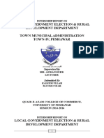 Internship Report On Town Municiple Administration Peshawar