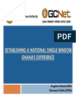 Ghana's Experience in Single Window
