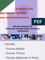 Pemeriksaan Radiologi Pada Kegawat Daruratan