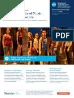 Bachelor of Music Theatre Theatre En