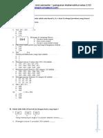 Soal Latihan Uts Ganjil Matmatika Kelas 2 Semester 1