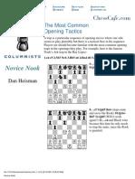 eBook - PDF - Dan Heisman - Most Common Opening Tactics - Chess