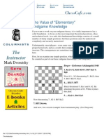 The Value of Elementary Endgame Knowledge - Dvoretsky [eBook - PDF]