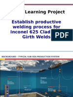 Productive Welding Process for Inconel 625