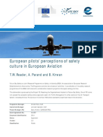 European Pilots Perceptions of Safety Culture