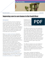 Improving care in care homes in the South West