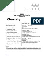 2009 QAT HSC Chemistry Exam
