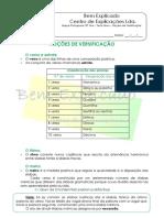 5. Texto Lírico - Noções de Versificação - Ficha Informativa