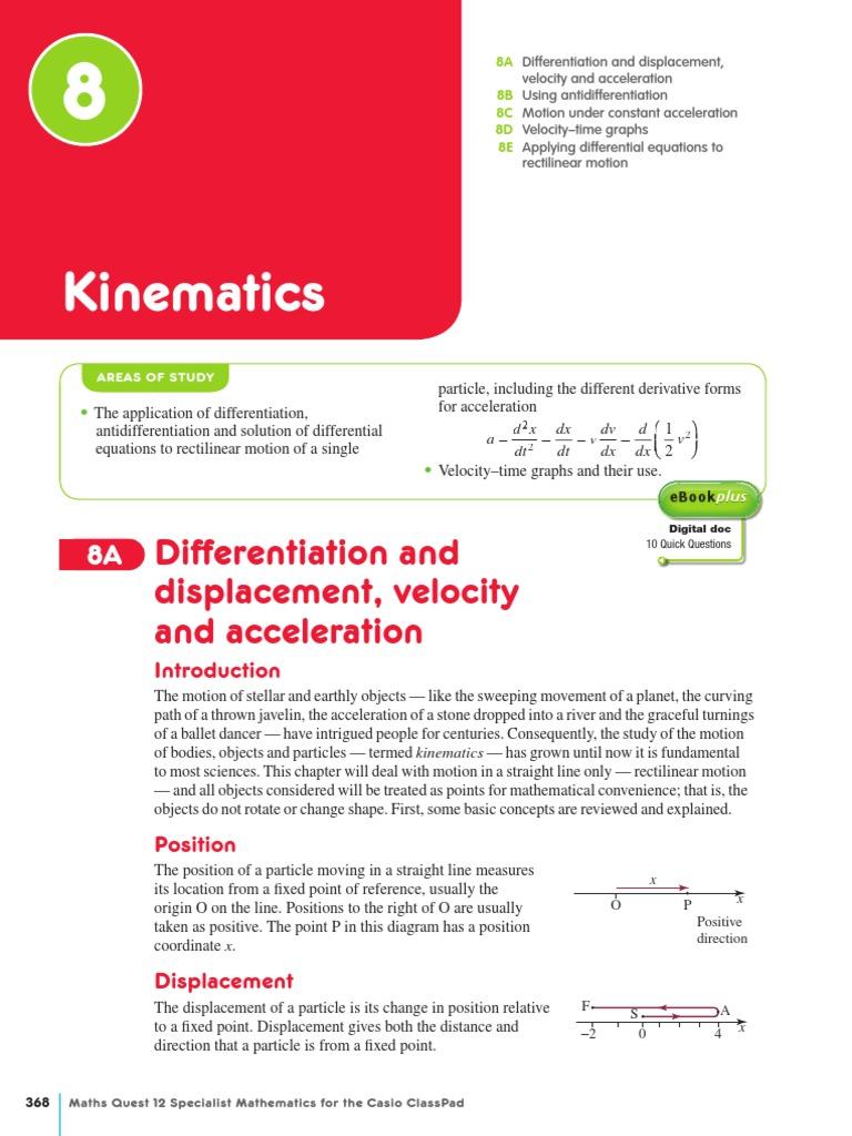 Ch08 Kinematics Acceleration Velocity