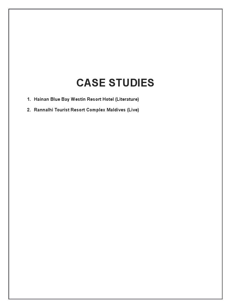 beach resort Case Study | Male | Hotel And Accommodation