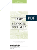 Basic Services for All? - UNICEF 2000