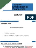 CHE190 Lecture 0