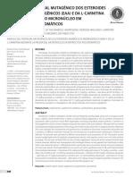 Análise Do Potencial Mutagênico Dos Esteroides Anabólicos Androgênicos (EAA) e Da L-carnitina Mediante o Teste Do Micronúcleo Em Eritrócitos Policro