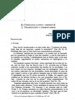 El Fisiólogo Latino. Versión B. Traducción y Comentarios