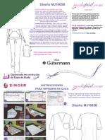 Instrucciones de Costura de La Blusa de Uniforme de Trabajo