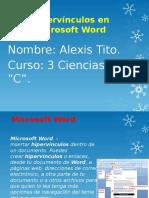 Hipervínculos en Microsoft Word