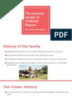 the unsolved murder of jonbenet ramsey