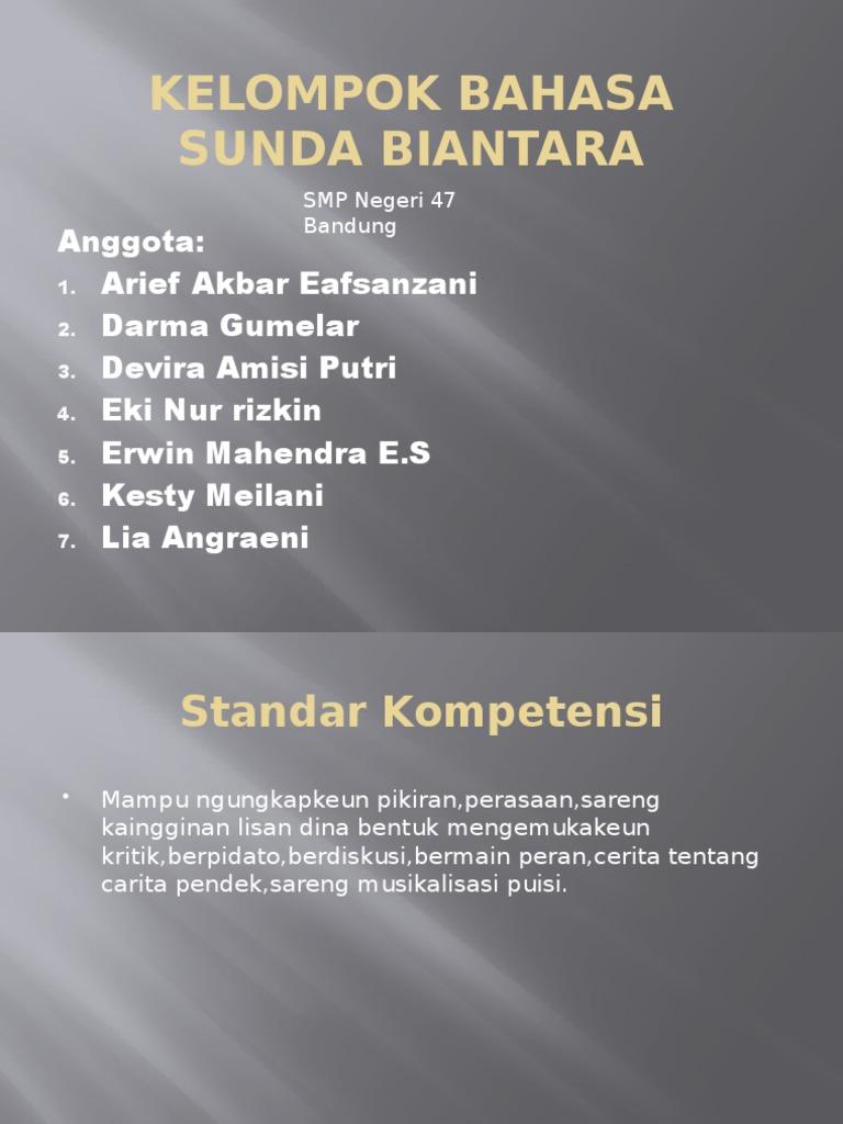 Kelompok Bahasa Sunda Biantara