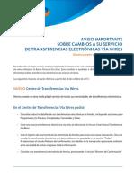 Wire Tranfer Message 2 Spanish