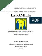 CANDIDATOS DE RUFINA LEVANO Y PROPUESTA DE GOBIERNO