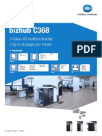 Bizhub C368 Machine Brochure