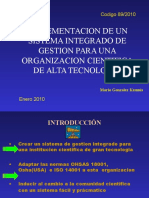 N 89 Sistema Integrado de Gestion AURA INC Version