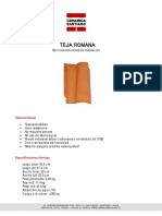 Manual de Instalaci n de Teja Romana