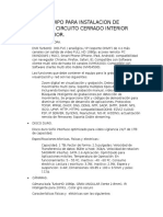 LISTA DE EQUIPO PARA INSTALACION DE CAMARAS DE CIRCUITO CERRADO..docx