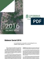 Balance Social 2016
