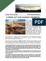 Pastor Bill Kren's Newsletter - January 22, 2017
