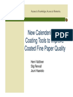 New Calendering and Coating Tools