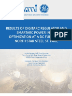 Results of DigitArc Electrode Regulator and SmartArc power input optimization at DC Furnace in North Star Steel St. Paul