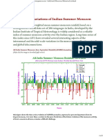 Indian Monsoon Rainfall Record of the Past Century