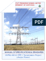 Manual of Specs & Standards for Power Transmission Systems_india