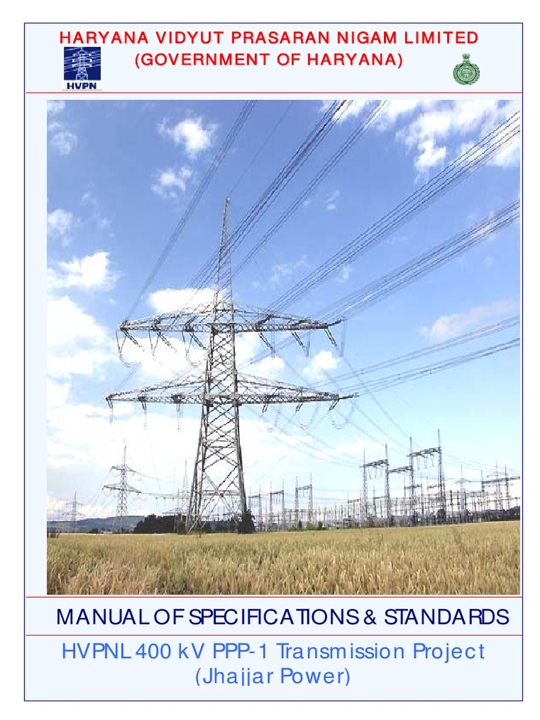 Manual of Specs & Standards for Power Transmission Systems_india    Electrical Substation   Transformer