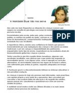 Artigo DN Sobre Escola Atual - Manuela Parente