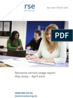 The Recourse Service Use Report