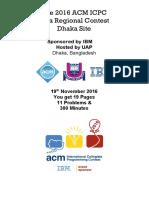 Icpc Dhaka 2016