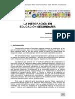 La Integración en Educación Secundaria
